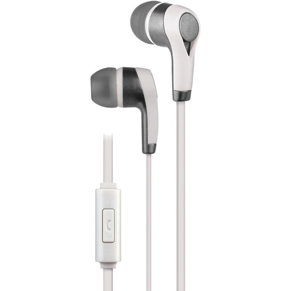At&t Pe10 In-ear Stereo Earbuds With Microphone (white)