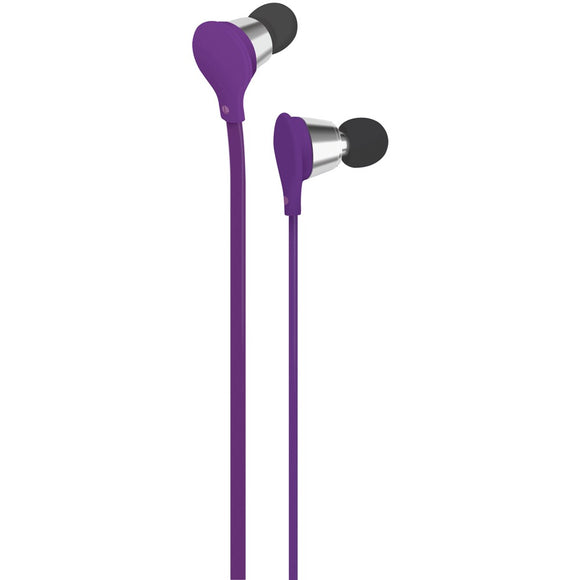 At&t Jive Noise-isolating Earbuds With Microphone (purple)