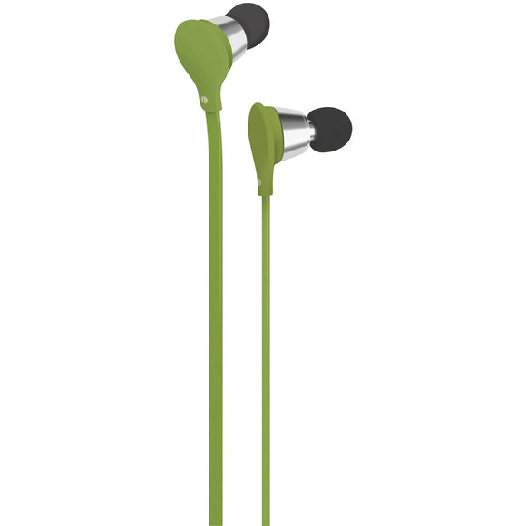At&t Jive Noise-isolating Earbuds With Microphone (green)