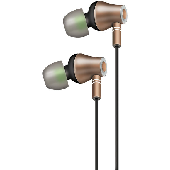 At&t E10 Metallic In-ear Stereo Earbuds With Microphone (gold)