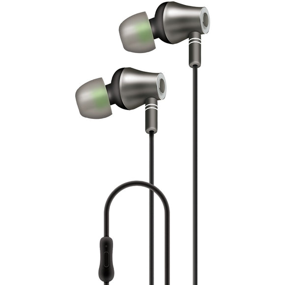 At&t E10 Metallic In-ear Stereo Earbuds With Microphone (black)