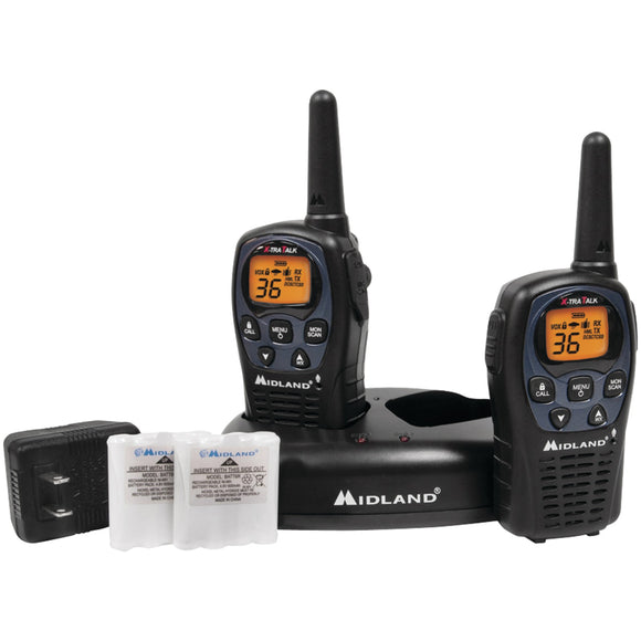 Midland 26-mile Gmrs Radio Pair Pack With Drop-in Charger & Rechargeable Batteries