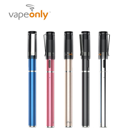 Original VapeOnly VPen Starter Kit with 1ml VPen Atomizer & 390mAh Automatic Battery Pen Style Kit Easy To Carry VPen Kit Vape