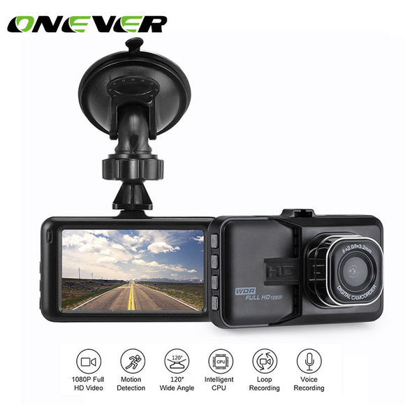 Onever 3 inch Dash Camera Car DVR Dash Cam Video Recorder HDMI HD 1080P Camcorder Night Vision Motion Detection Loop Recording