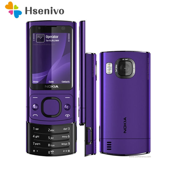 6700S Original Unlocked Nokia 6700S mobile phone Bluetooth FM JAVA 5MP 3G 6700 Slider cell phone refurbished
