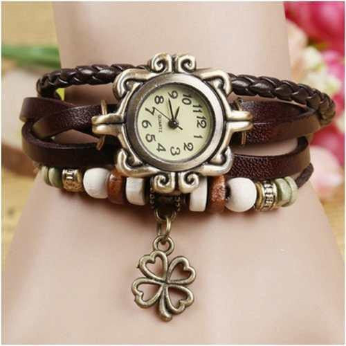 Flower Vintage Wrap Watch