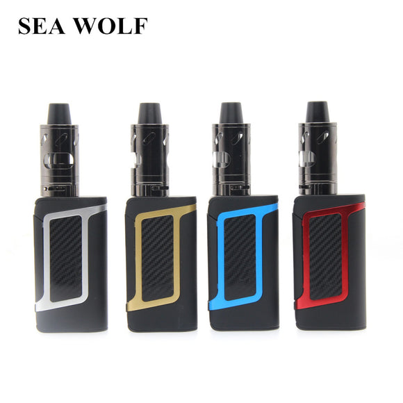 SEA WOLF HC Vape Kit 80W Shisha Pen Vape Vapor LCD Display Electronic Cigarettes Box Mod 2000mAh Battery With 3.5ml Atomizer VS
