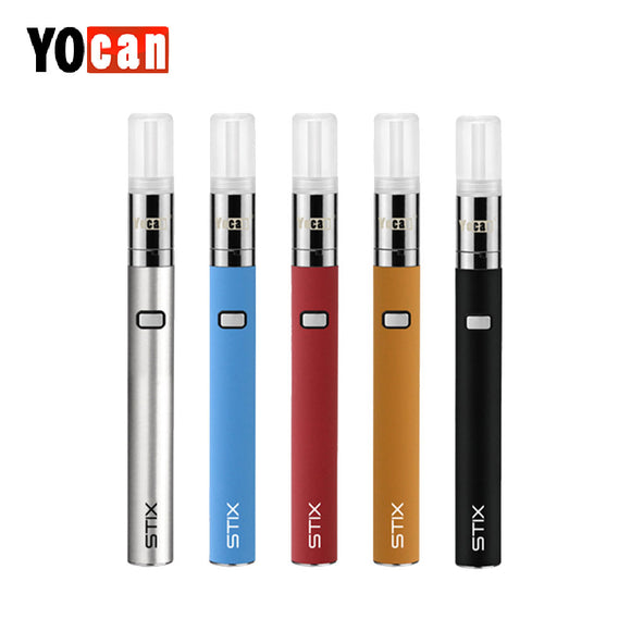Original Yocan STIX Starter Kit with 320mAh Battery & 0.6ml Tank Capacity Three Adjustable Voltage Level Vape Pen Kit vs ego aio