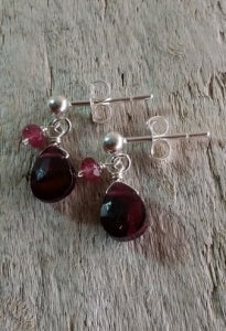 Kristin Ford - Garnet Post earrings