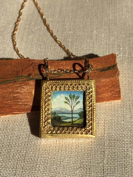 Christina Goodman Hand Painted Necklace