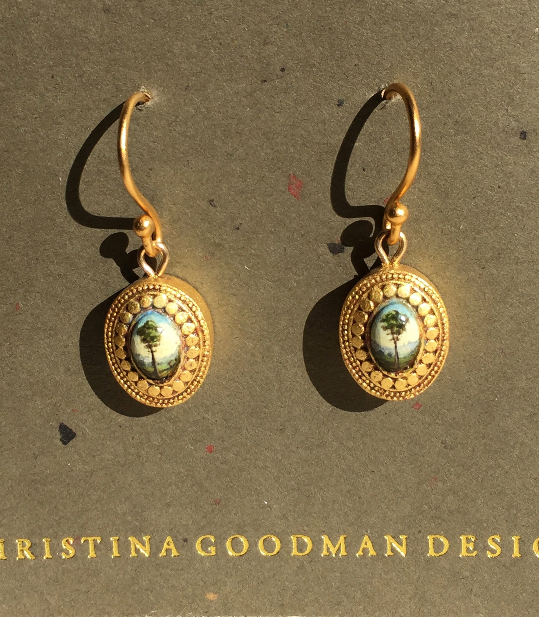 Christina Goodman Hand Painted Earrings
