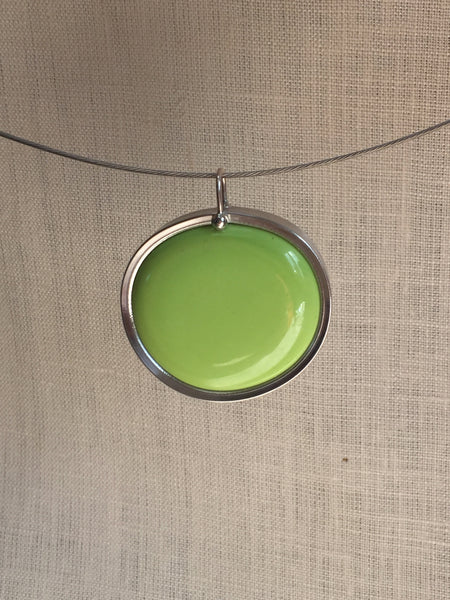 Lime Green glass pendant