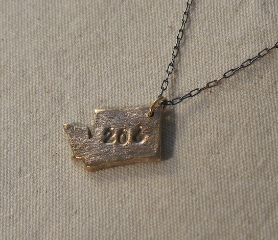 """206"" Washington necklace"