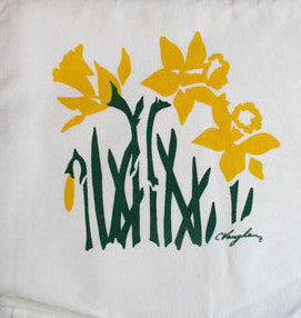 Daffodil tea towel