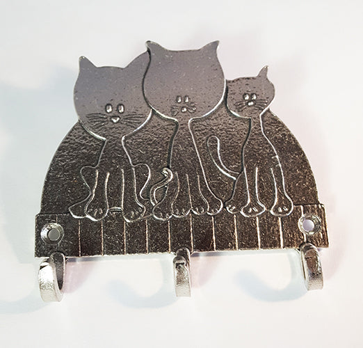 Three Kitties Key Rack