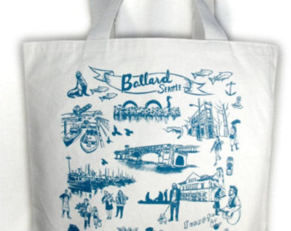 Ballard Neighborhood canvas tote bag