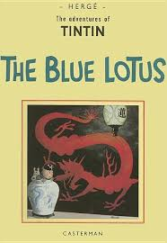 The Blue Lotus  - Vintage Reproduction Tintin book