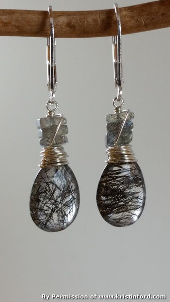 Kristin Ford - Black T. Qtz. Earrings