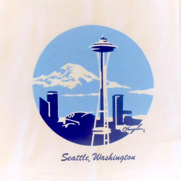 Space Needle tea towel
