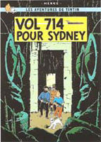 Tintin Poster - Fligh 714 to Sydney