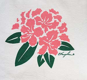 Rhododendron tea towel