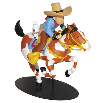Tintin Cowboy Statuette - Rare Limited Edition