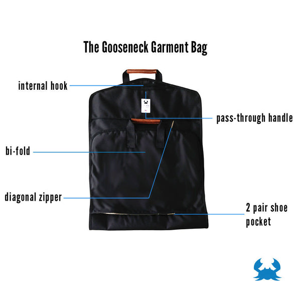 Gooseneck Garment Bag, Made in Minnesota