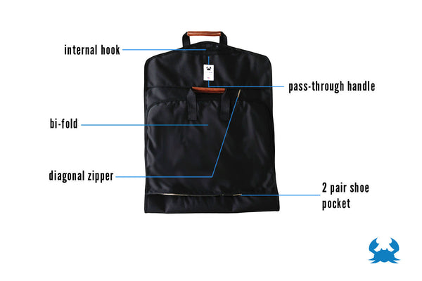 Garment Bag by Blue Claw Bag Co