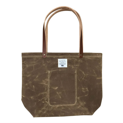 Waxed Cotton Market Tote Handbag