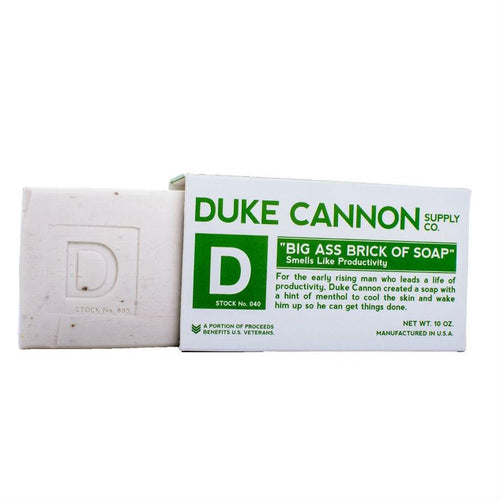 Duke Cannon Brick of Soap, Productivity