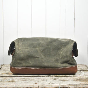 De Gaulle Dopp Kit in Olive | Blue Claw Bag Co