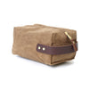 Waxed Duck Island Dopp Kit Tan