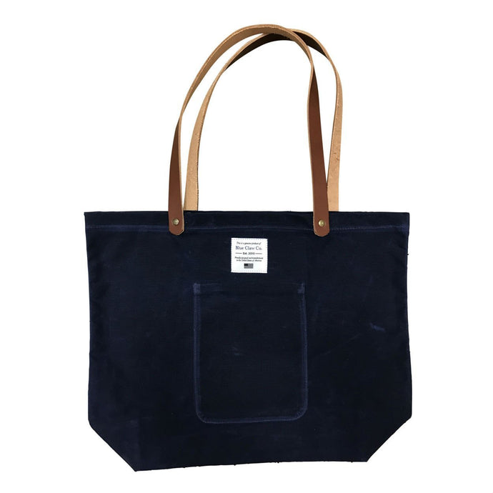 Waxed Canvas Market Tote, Navy