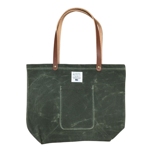 Waxed Canvas Market Tote, Olive