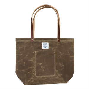 Waxed Canvas Market Tote, Tan