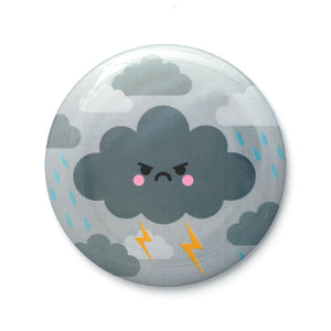 Angry Thunder Cloud 76mm Pocket Mirror