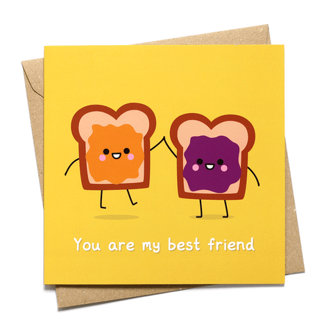 peanut butter and jelly sandwich best friend card