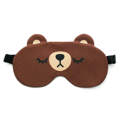 Brown bear sleep mask