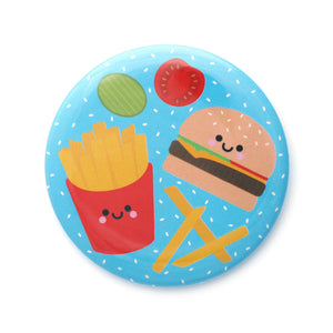 Kawaii burger and fries pocket mirror