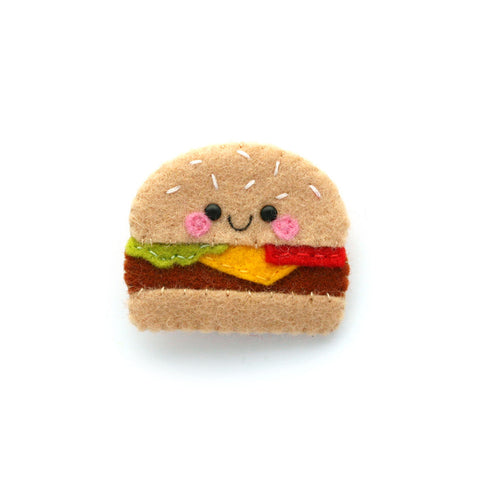 Burger Felt Brooch