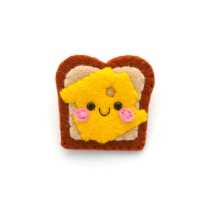 Cheese on Toast Felt Brooch
