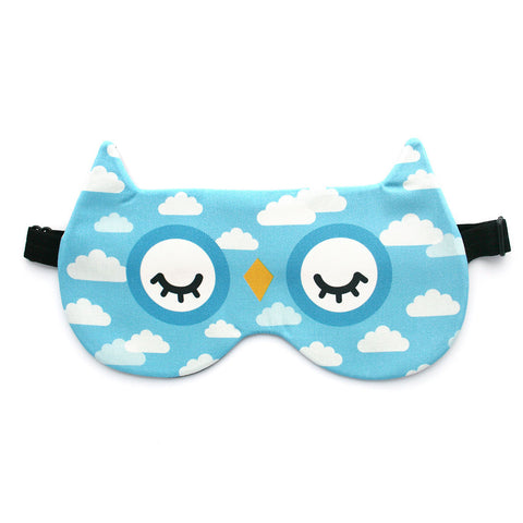 Owl eye mask with cloud pattern