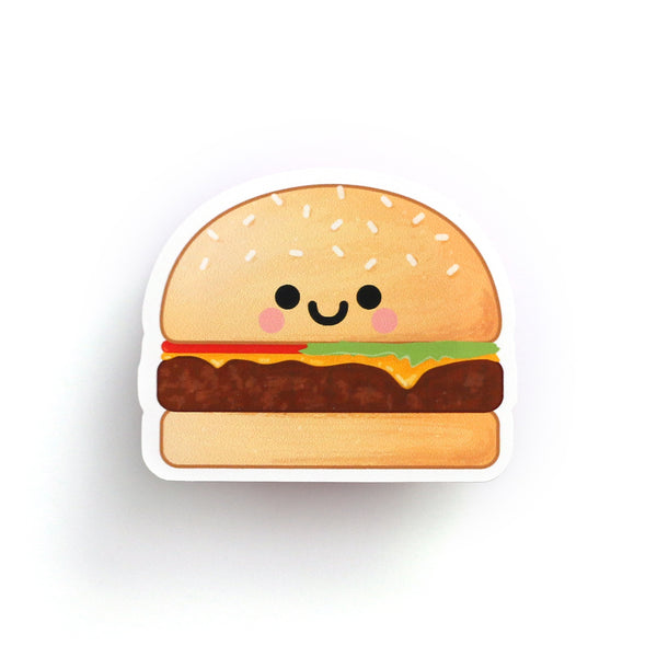 Kawaii Burger Sticker hannahdoodle