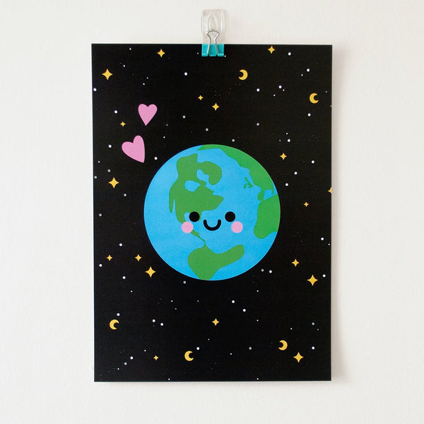Happy Earth Art Print