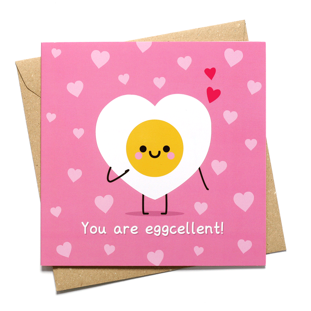 You are eggcellent love greeting card