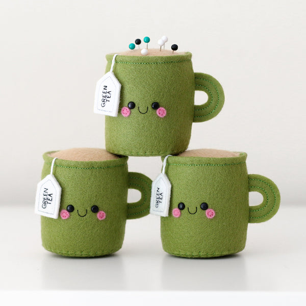 green tea pincushions by hannahdoodle