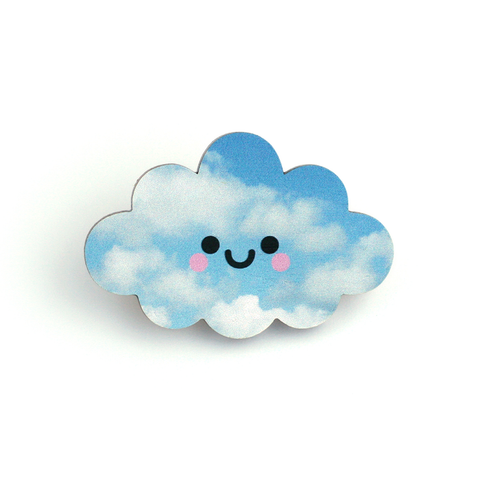Kawaii Cloud Pin Badge