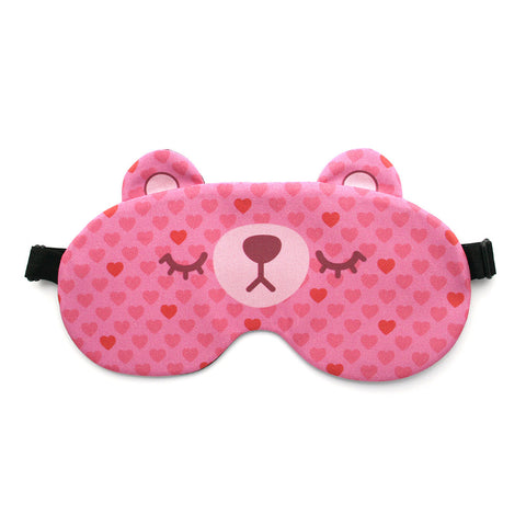 Lovely hearts bear sleep mask