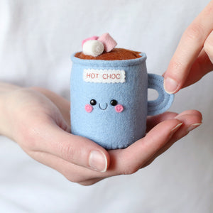 Hot Chocolate Pincushion by hannahdoodle