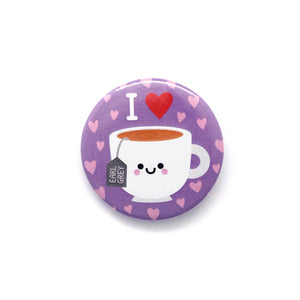 Cute Earl Grey Tea Badge